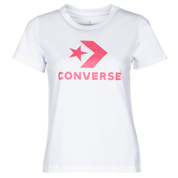 Oblečenie Ženy Tričká s krátkym rukávom Converse STAR CHEVRON CENTER FRONT TEE Biela