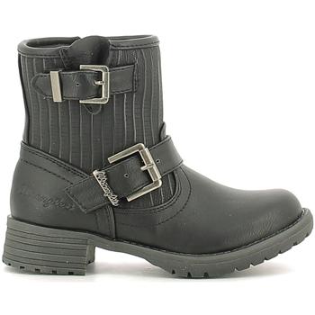 Topánky Deti Polokozačky Wrangler WG16205B čierna