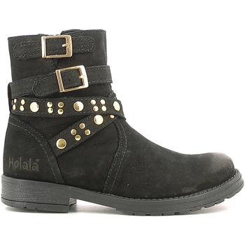 Topánky Deti Polokozačky Holalà HL120008L čierna