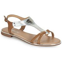 Topánky Ženy Sandále Adige ANNABELLE V4 SPECCHIO SILVER Strieborná