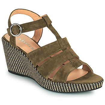 Topánky Ženy Sandále Adige FLORY V5 VELOURS MILITAIRE Kaki