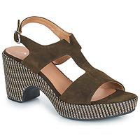 Topánky Ženy Sandále Adige ROMA V5 VELOURS MILITAR Kaki