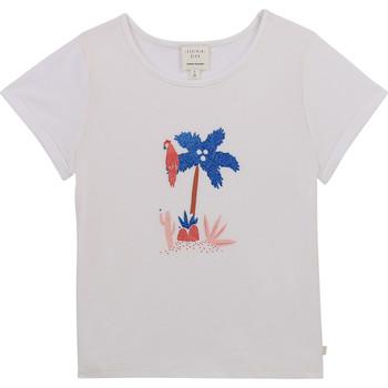 Oblečenie Dievčatá Tričká s krátkym rukávom Carrément Beau Y15383-10B Biela