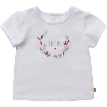 Oblečenie Dievčatá Tričká s krátkym rukávom Carrément Beau Y95270-10B Biela