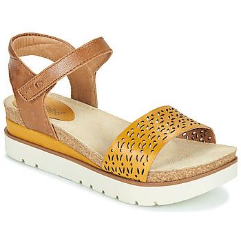 Topánky Ženy Sandále Josef Seibel CLEA 09 Hnedá / Žltá