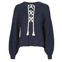 Oblečenie Ženy Svetre MICHAEL Michael Kors EASY ROPE LACE SWTR Námornícka modrá