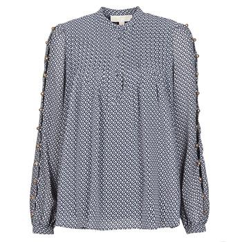 Oblečenie Ženy Blúzky MICHAEL Michael Kors MINI FLORAL LS TOP Námornícka modrá