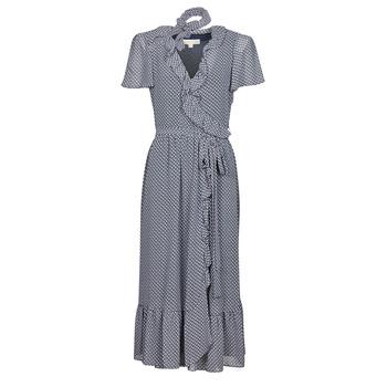 Oblečenie Ženy Dlhé šaty MICHAEL Michael Kors MINI BICOLR 60S FLRL DRS Modrá