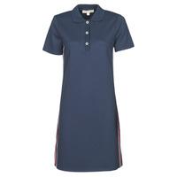 Oblečenie Ženy Krátke šaty MICHAEL Michael Kors SS LOGO TAPE POLO DRS Námornícka modrá