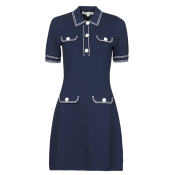 Oblečenie Ženy Krátke šaty MICHAEL Michael Kors CONTRAST STITCH BUTTON DRESS Námornícka modrá