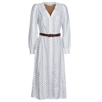 Oblečenie Ženy Dlhé šaty MICHAEL Michael Kors ROPE STRIPES HEMP DS Biela