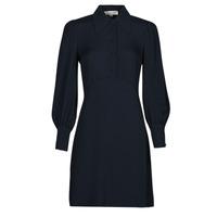Oblečenie Ženy Krátke šaty MICHAEL Michael Kors VI SATIN MINI DRESS Námornícka modrá