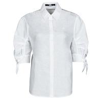 Oblečenie Ženy Košele a blúzky Karl Lagerfeld LINENSHIRTW/BOWS Biela