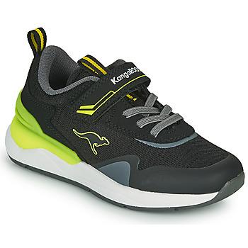 Topánky Chlapci Nízke tenisky Kangaroos KD-GYM EV Čierna / Žltá