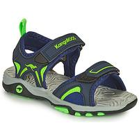 Topánky Chlapci Sandále Kangaroos K-MONT Modrá / Zelená
