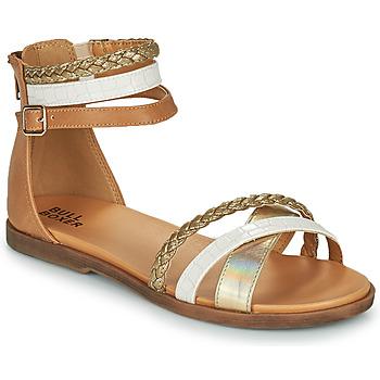 Topánky Dievčatá Sandále Bullboxer ALM013F1S-GOLD Hnedá