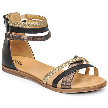 Topánky Dievčatá Sandále Bullboxer ALM013F1S-ROSE Čierna