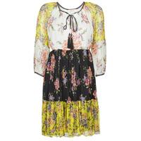 Oblečenie Ženy Krátke šaty Derhy SARDAIGNE Čierna / Biela / Žltá