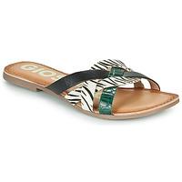 Topánky Ženy Šľapky Gioseppo STILES Čierna / Biela