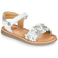 Topánky Dievčatá Sandále Gioseppo MAZARA Biela / Strieborná