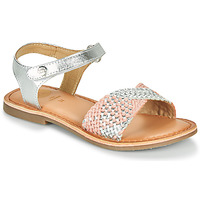 Topánky Dievčatá Sandále Gioseppo QUINCY Strieborná / Ružová