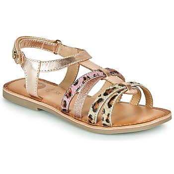 Topánky Dievčatá Sandále Gioseppo PALMYRA Ružová / Zlatá