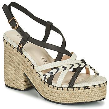 Topánky Ženy Sandále Menbur BALMUCCIA Čierna / Biela