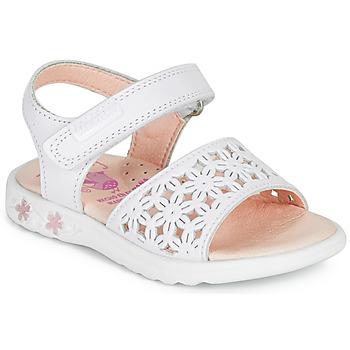 Topánky Dievčatá Sandále Pablosky DROSSI Biela / Ružová