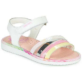 Topánky Dievčatá Sandále Pablosky MOUNNA Biela / Ružová