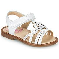 Topánky Dievčatá Sandále Pablosky MARIE Biela