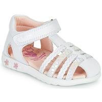 Topánky Dievčatá Sandále Pablosky TONNI Biela / Ružová
