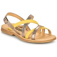 Topánky Dievčatá Sandále Citrouille et Compagnie GENTOU Žltá / Strieborná