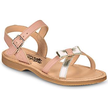 Topánky Dievčatá Sandále Citrouille et Compagnie JISCOTTE Ružová / Strieborná