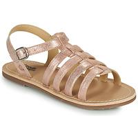 Topánky Dievčatá Sandále Citrouille et Compagnie MAYANA Ružová / Zlatá