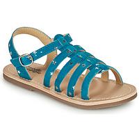 Topánky Dievčatá Sandále Citrouille et Compagnie MAYANA Modrá