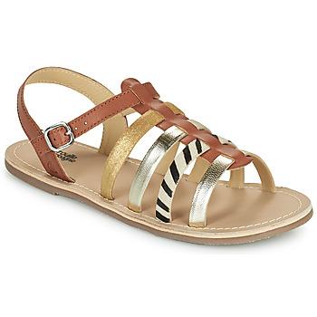 Topánky Dievčatá Sandále Citrouille et Compagnie MAYANA Svetlá hnedá