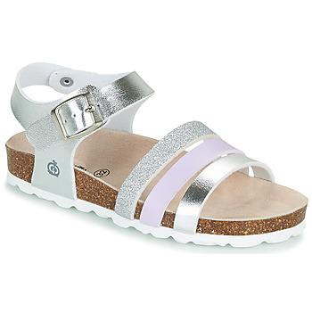 Topánky Dievčatá Sandále Citrouille et Compagnie OMAYA Strieborná