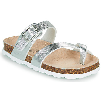 Topánky Dievčatá Šľapky Citrouille et Compagnie OMILA Strieborná