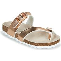 Topánky Dievčatá Šľapky Citrouille et Compagnie OMILA Ružová / Zlatá