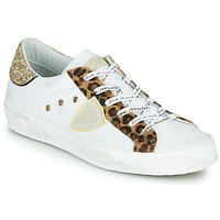 Topánky Ženy Nízke tenisky Philippe Model PARIS Biela / Leopard