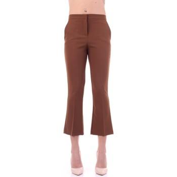 Oblečenie Ženy Oblekové nohavice Angela Davis EG71 Tabacco