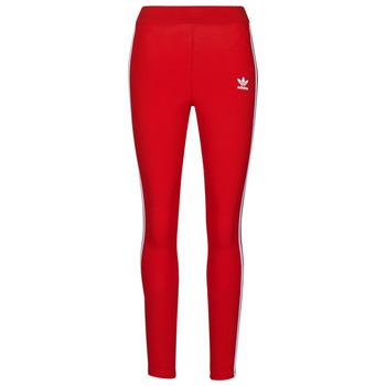 Oblečenie Ženy Legíny adidas Originals 3 STR TIGHT Červená