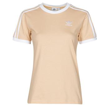 Oblečenie Ženy Tričká s krátkym rukávom adidas Originals 3 STRIPES TEE Oranžová