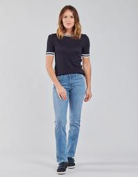 Oblečenie Ženy Rovné Rifle  Lee MARION STRAIGHT Modrá