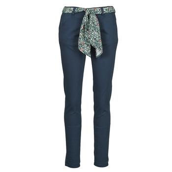Oblečenie Ženy Nohavice Chinos a Carrot Le Temps des Cerises LIDY Modrá