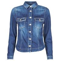 Oblečenie Ženy Džínsové bundy Le Temps des Cerises LILLY Modrá