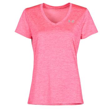 Oblečenie Ženy Tričká s krátkym rukávom Under Armour TECH SSV Ružová