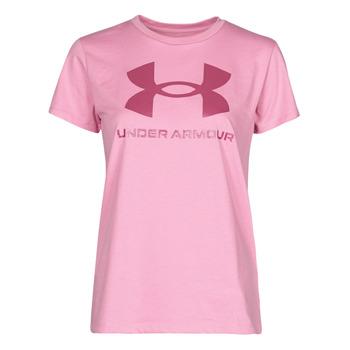 Oblečenie Ženy Tričká s krátkym rukávom Under Armour LIVE SPORTSTYLE GRAPHIC SSC Ružová