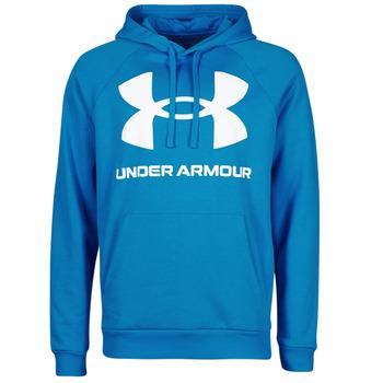 Oblečenie Muži Mikiny Under Armour UA RIVAL FLEECE BIG LOGO HD Modrá