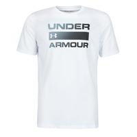 Oblečenie Muži Tričká s krátkym rukávom Under Armour UA TEAM ISSUE WORDMARK SS Biela